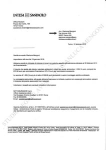 Rimborso finanziamento cessione del quinto: esempio risposta istituto finanziario   Avvocato Gianluca Mengoni