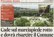Corriere Adriatico articolo Insidie Stradali | Avvocato Gianluca Mengoni